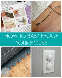 A super simple checklist to baby proof your home! Don't forget poison control number on the fridge!