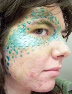 Dragon scales on the face