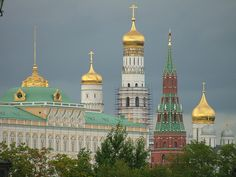 Grand Kremlin Palace, Ivan the Great Bell Tower, Vodovzvodnaya and the Archangel Cathedral , Russia