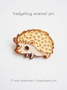 Hedgehog Enamel Pin by Susie Ghahremani / boygirlparty.com - http://shop.boygirlparty.com
