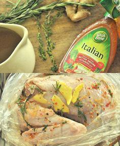 Brining the turkey with Wish-Bone's easy, no-fail recipe