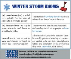 Idioms are a great way to improve your spoken English. Here are three idioms related to winter in honor of #snowstorm Juno!
