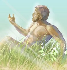 Adam, a living soul, at the time of his creation