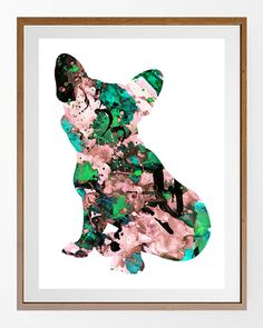 50% OFF  French Bulldog watercolor print Frenchie by MimiPrints