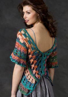 Red Heart® Boutique™ Treasure™ Butterfly Wrap #crochet #pattern