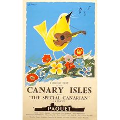 ROUND TRIP TO THE CANARY ISLES - Original Poster Barcelona