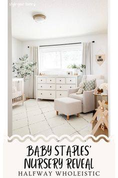 Visit here to see this nursery reveal on Halfway Wholeistic! If you are looking for Nursery ideas and neutral color palettes inspiration, then this is for you. Get inspired by this nursery decor for a boy that is a grey room. Be sure to see these nursery ideas that are neutral gray and white. There is nothing like nursery ideas for a boy that is rustic and modern. Check out these baby nursery ideas and neutral grey room decor. Best gender neutral nursery decor ideas. #nursery #home #decor Living Room Sectional, Rugs In Living Room, Wayfair Living Room Furniture, Floor Pouf, Furniture Placement, Upholstered Beds, Nursery Neutral, Bedroom Ideas, Nursery Ideas