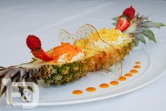 Antigua Black Pineapple with Passion Fruit Sorbet