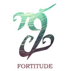 Fortitude rune. (mental and emotional strength in facing difficulty, adversity, danger, or temptation courageously.) add to dagger tat