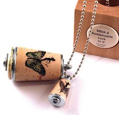 the butterfly passenger - fairy cork necklace in test tube