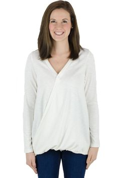 f4151ef8ced Latched Mama Snap Front Nursing Sweater - Ivory XS Nursing Tops, Nursing  Clothes, Nursing
