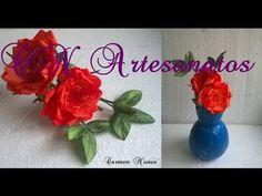 Rosa Aberta de E.V.A. sem frisador (somente a rosa). - YouTube