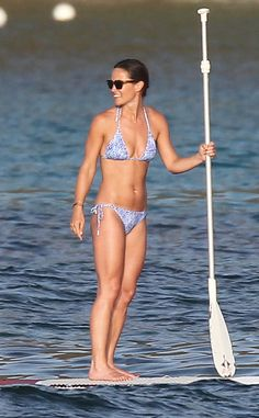 Pippa Middleton Flaunts Her Killer Bikini Bod While Paddleboarding in the Caribbean—See the Pics!  **embargoed until 8/29 5am pst Pippa Middleton