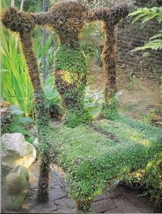 Mossy chair (ok, this just creeps me out...rabbit hole, falling down........)