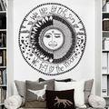 Islámico media luna sol y la luna étnico pegatinas de pared sala extraíble etiquetas engomadas decorativas creativas etiquetas de la pared