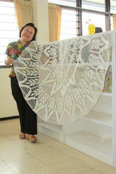 (20) Taplak bentuk lingkaran dengan motif padi yang cantik by Yvonne Sumilat