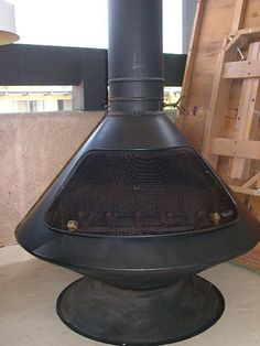 SOLD-$375 - Retro Mod Danish Modern 60s or 70s Fireplace / Wood Burning Stove by ModernAddiction, via Flickr