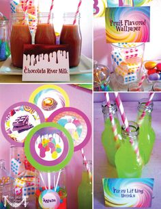 Willy Wonka Party Candy Party  PRINTABLE by CutiePuttiPaperie, $50.00
