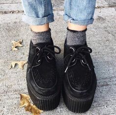 $13,28-15,77 Creepers - http://ali.pub/172t4 Aliexpress style cool nice clothing clothes fashion shoes tumblr black outfits girl look holy good spring autumn summer
