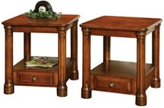 1 for couch :) 33% OFF Amish Furniture - Hand Crafted Shaker and Mission Furniture Online Outlet Store: Portland End Table: Oak