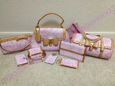 Full Louis Vuitton Takashi Murakami Cherry Blossoms 2003 Collection in Pink (want!!)
