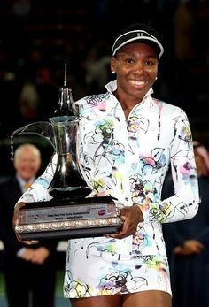 Venus Williams captures 3rd straight Dubai Duty Free Tennis Championships crown with 63 60 win over Alize Cornet. Venus' 45th career title & 1st WTA Premier title since 2010!
