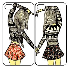 Sisters foreverSamsung Galaxy S3 S4 S5 Note 3 4 , iPhone 4 4S 5 5s 5c 6 Plus , iPod Touch 4 5 , HTC One M7 M8 ,LG G2 G3 Couple Case
