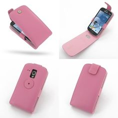 PDair Leather Case for Samsung Galaxy S Duos GT-S7562 - Flip Top Type (Petal Pink)