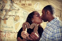 Save the Date Urban Engagement Session by His Image Photography