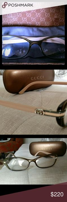 Gucci Eyeglasses Gucci glasses had for 1 year, they are prescription which you can change this cost me $550 they are almost new condition Gucci Other