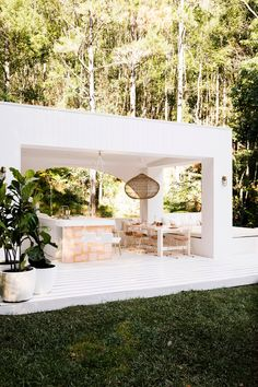 House 10 The Hinterland Hideaway Pool Pavilion. White Exteriors Pavilion Pink Tiles Outdoor Dining House 10 The Hinterland Hideaway Pool Pavilion. White Exteriors Pavilion Pink Tiles Outdoor Dining Click The Link For See Houses Architecture, Architecture Renovation, Futuristic Architecture, Outdoor Rooms, Outdoor Dining, Outdoor Pavilion, Outdoor Cafe, Outdoor Kitchens, Outdoor Ideas