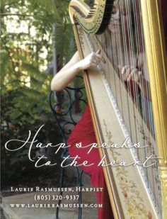 Advertisement Design For Santa Barbara Based Harpist Laurie Rasmussen Harp Wedding