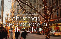 christmas decorations in the city
