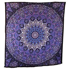 Handicrunch Hippie Mandala Tapestry, Blue Purple Tapestry Wall Hanging, Indian Tapestry, Large Table Runner Bed Cover Indian Art, Cotton Bohemian Tapestry, Hippie Tapestry, Cotton Bed Sheet, Decor Art Wall Hanging Popular Handicrafts http://smile.amazon.com/dp/B00Z37YGIW/ref=cm_sw_r_pi_dp_dnBnwb1EN4MMY