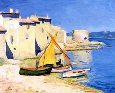 The Port of la Ponche, Saint-Tropez Albert Marquet - 1905