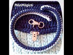 ASA DE TRAPILLO CON CADENA www.monmagic6.com - YouTube Crochet Motif, Knit Crochet, Crochet Patterns, Crochet World, Crochet Handbags, T Shirt Yarn, Crochet Videos, Knitted Bags, Handmade Bags