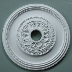 Plaster Ceiling Rose Plain Acanthus 610mm dia. MPR061