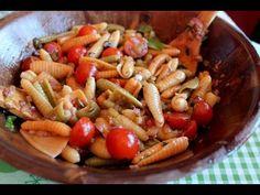 Ensalada de pasta con vinagreta de albahaca / Pasta Salad with Basil Dressing (Lactose-free)