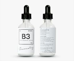 B3 cosmetics & beauty product label design