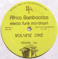 Africa Bambaataa* - Electro Funk Mix-Down (Volume One) (Vinyl, LP) at Discogs