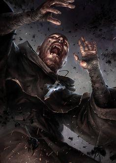 Plague attack, SIXMOREVODKA STUDIO on ArtStation at https://www.artstation.com/artwork/2LakB