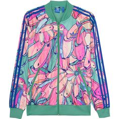 ADIDAS ORIGINALS Bananas Supergirl Multi // Patterned sport jacket ($89) ❤ liked on Polyvore featuring adidas originals
