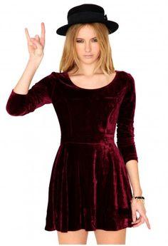 6. Maalika Long Sleeve Velvet Skater Dress - 7 Cute Holiday Dresses ...   All Women Stalk