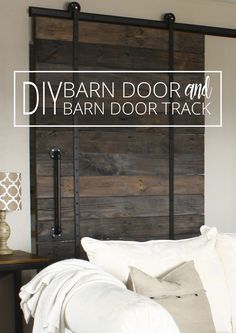 Do you love the look of barn doors but not the price tag? We've got a DIY Barn Door and DIY Barn Door Track tutorial - that won't break the bank!