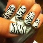 New Design of Zebra Nails Ideas #manicure #pretty #glamour #nail #nails #cute #design #color #nailart #art #beauty #zebra