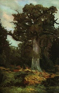 Fișier:Ion Andreescu - The oak. Art Database, Oil Painting Reproductions, Art And Architecture, Landscape Art, Great Artists, Art History, Art Prints, Romania, Paintings