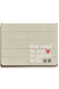 The Road to My HEART paved with Wood Art by Whimsical Art On Wood on @HauteLook