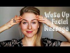 Wake Up Facial Massage. Lymph Drainage and Ear Massage. - YouTube