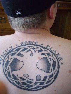 Celtic Tree of Life tattoo Negative