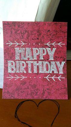 #happybirthday #handlettering #diycard #simplebirthdaycard